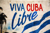Viva Cuba Libre sign — Stock Photo