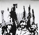 Cuban revolution painted on a wall — Stock Photo