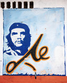 El Che portrait on a wall — Stock Photo