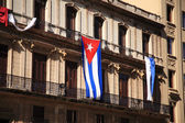 Flag of Cuba on a building — Stock Photo