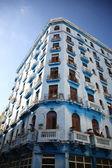 Tall old apartment block Havana — Stock Photo