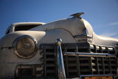 Vieja coche cubana blanco — Foto de Stock