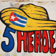 Five Heroes Cuba — Stock Photo