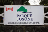 Sign for Parque Josone Cuba — Stock Photo