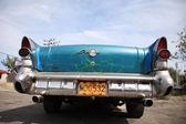 Bumper of an old blue Buick Cuba — Stock Photo