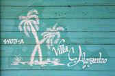 Painted house name Cuba — Foto de Stock