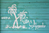 Painted house name Cuba — Стоковое фото