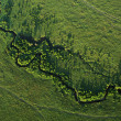 Stock Photo: River meandering across Masai Mara