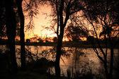 Sunrise over Uaso Nyiro River — Stock Photo
