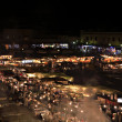 Marrakech souk at night — Stock Photo