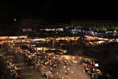 Marrakech souk at night — Stock Photo