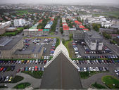 View from Hallgrimskirkja — ストック写真