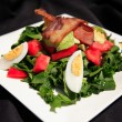 Summer bacon salad — Stock Photo