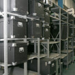 Rack of boxes — Foto de Stock