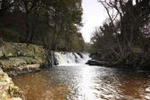 Gelt 在河上的瀑布 — 图库照片