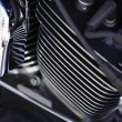 Close up of chrome engine — Stock Photo