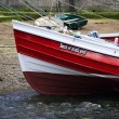 Red fishing boat — Stock Photo