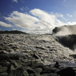 Dettifoss riverbed — Stockfoto