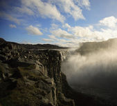 Rocks and Dettifoss — Stock Photo