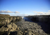 View across Dettifoss waterfall — Stock Photo