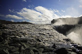 Dettifoss riverbed — Stock Photo