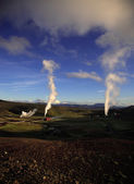 Harnessing geothermal power — Stock Photo