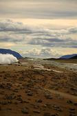 Volcanic landscape at Krafla — Stock Photo