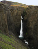 Tall Waterfall Iceland — Stock Photo