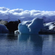 Sunlit icebergs — Stock Photo