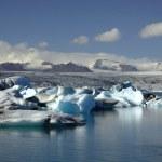 全景查看超过数百个冰山 — 图库照片