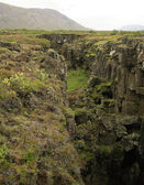 Iceland's fault line — Stock Photo
