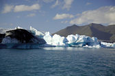 Icebergs lit by the sun — Stock Photo