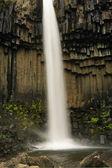 Vertical view of Svartifoss waterfall — Stock Photo