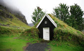 Tiny turf church — Stock Photo