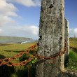 Stock Photo: Posts and chain view