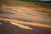 Coloured geothermal landscape — Stock Photo