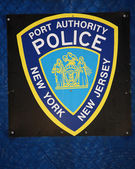 Port Authority Police Sign, New York — Stock Photo