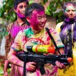 Holi festival celebrations in India — Stock Photo