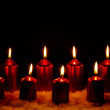 Burning candles — Stock fotografie
