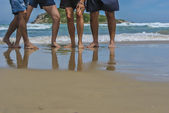 Feet on the beach — Stock Photo