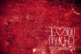 I love you mucho — 图库照片