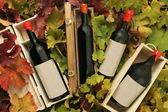Four wine gift boxes — Stock Photo