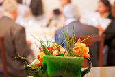 Floral decoration in a restaurant — Stock Photo