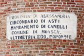 Provincia di Alessandria, comune di Moasca — Stock Photo