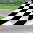 Chequered flag on racetrack. — Stock Photo #28226163