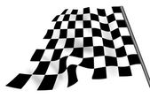 Isolated chequered flag — Stock Photo