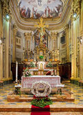 Interior of catholic church. — Stock Photo