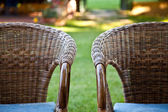 Two chairs in garden — Stock Photo