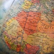 Africa and Europe Map - Part of old globe — Stock Photo