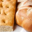 Closeup of genoese focacciand bread. — Stock Photo #28326793
